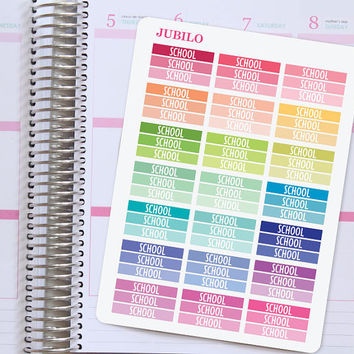 Planner Stickers School Headers