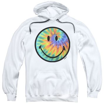 Smiley World - Tie Dye Face Adult Pull Over Hoodie