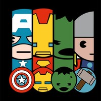 Mini Avengers vectors for vinyl, serigraphy, sublimation, silhouette and more svg, eps, cdr, studio3