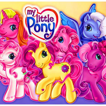 My Little Pony Cartoon Characters Poster 11x17