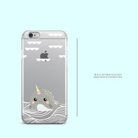'Narwhal' - Clear TPU Case Cover