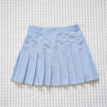 e2950f3bcf 90's Tennis Skirt, Pastel Baby Blue Pleated Skirt, Cheerleader,