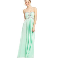 B. Darlin Strapless Sweetheart Beaded Gown | Dillard's Mobile
