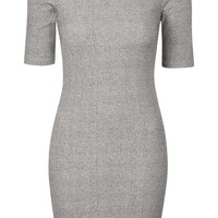 PETITE Ribbed Mini Bodycon Dress - Topshop