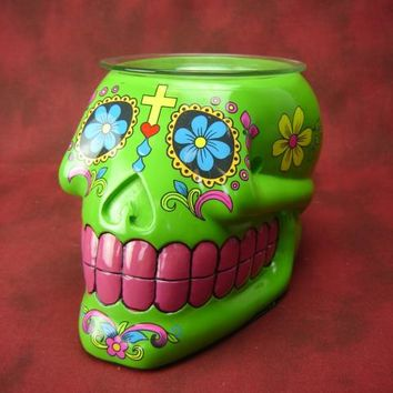 Skull Day Of The Dead Electric Aroma Lamp