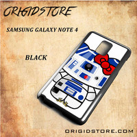 R2D2 Star Wars Hello Kitty Black White Snap On 3D For Samsung Galaxy Note 4 Case