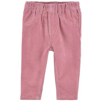 NOV9O2 Stella McCartney Baby Girls Ribbed Pink Pants