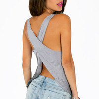 Myrna Criss Cross Tank Top $22