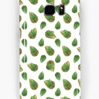 'Leaves Motif Nature Pattern' Samsung Galaxy Case/Skin by DFLC Prints