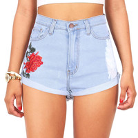 Wild Rose High Waist Shorts