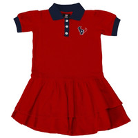 Houston Texans Girls Youth Preppy Fan Polo Dress - Red - http://www.shareasale.com/m-pr.cfm?merchantID=29081&userID=1042934&productID=549284601 / Houston Texans