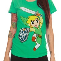 Nintendo The Legend Of Zelda: Spirit Tracks Link Girls T-Shirt - 141152
