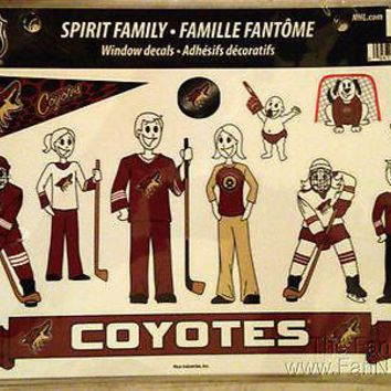 Phoenix Coyotes Family Spirit Stickers Decals Sheet NHL Hockey