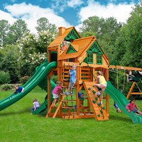 Gorilla Playsets Great Skye II Treehouse Wooden Swing Set
