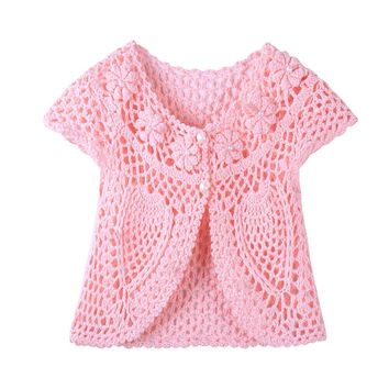 OB Newborn Kids Baby Girls Clothes Knitted Sweater Coat Cardigan Photography Prop