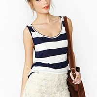 Beach Bum Striped Tank