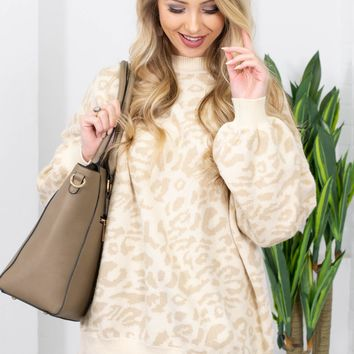Sonia Leopard Mock Neck Sweater