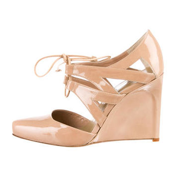Calvin Klein Collection Patent Wedges