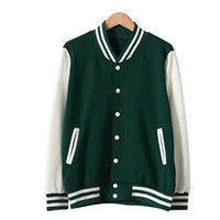 Women's brief all-match autumn casual cardigans baseball uniform varsity jacket