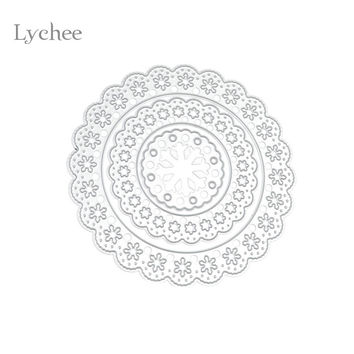 Floral Circle DIY Metal Cutting Dies Stencils Embossing Card Scrapbooking Decoration Craft Die Cutting Template Folder Suit