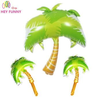 HEY FUNNY 1pc 110*85cm Summer Scene Palm Tree Foil Balloons Wedding Decorations Balloon Birthday Party Supplies