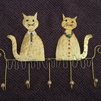 jewelry organaizer/earring holder/wall ornament/jewelry display/key rack/jewelry storage/metal work/cat/tomcat
