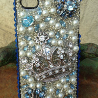Beautiful Baby Blue and Silver Bling iPhone 4/4s Case
