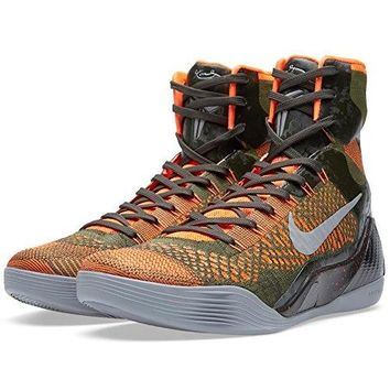 Nike Kobe IX 9 Elite 'Strategy' 630847-303 Sequoia/Green/Silver Men's Basketball Shoes