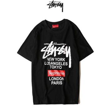 Gotopfashion Stussy x Supreme Woman Men Fashion Tunic Shirt Top Blouse