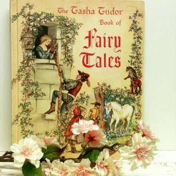 Tasha Tudor,Fairy Tale Book,Gift,FairyTale Wedding,Ephemera,Rapunzel,Sleeping Beauty,Cinderella,Thumbelina,Tasha Tudors Book of Fairy Tales