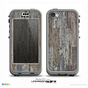 The Straight Aged Wood Planks Skin for the iPhone 5c nüüd LifeProof Case