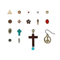 Cross Peace Skull Earring Pack - Jewelry - Bags & Accessories - Topshop USA