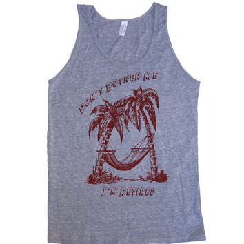 Mens Don't Bother Me I'm Retired Tri-Blend Tank - American Apparel tanktop - XS S M L XL (8 Color Options)