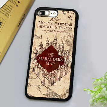 Harry Potter Marauders Map Printed Mobiel Phone Case Accessories For iPhone 7 7 Plus 4.7 5.5 inch Soft Rubber Back Cover