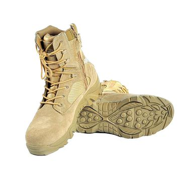 Men's Delta Military Tactical Hunting Airsoft Boots Outdoor Sports Camping Hiking Climbing Round Toe Desert Combat Boots