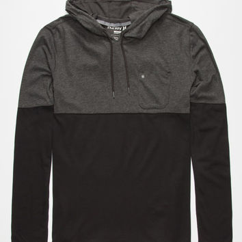 Hurley Dri-Fit Adams Mens Lightweight Hoodie Heather Black  In Sizes