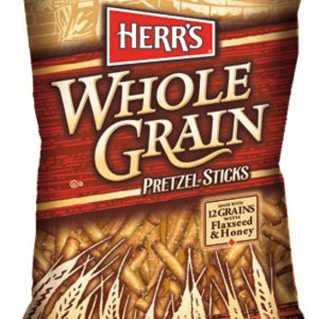Herr's Whole Grain Sticks With Flax Seed and Honey 10oz Bags-Pack of 8