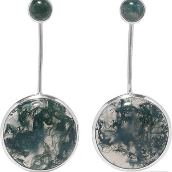 Pamela Love - Agnus silver agate earrings