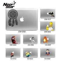 Funny Sticker for Apple Macbook Pro Air 13 11 15 17 Skin shell For Mac Book Simpson Iron Man Minions Vinyl Decal laptop Skin