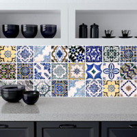 Tile decals Stickers - Tile Decals - Tile decals for Kitchen or Bathroom - PACK OF 20 - Mexico, Morocco, Portugal, Spain, Mosaic - Edit Listing - Etsy