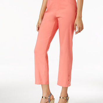 JM Collection Pull-On Cropped Pants, Only at Macy's - Pants - Women - Macy's