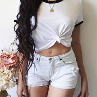 Indie Cropped Tee (WHITE)