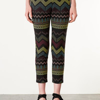 Aztec Jacquard Cigarette - New In This Week - New In - Topshop USA