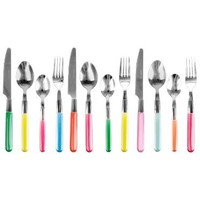 Present time Assorted Colors Indian Summer Cutlery Set, Set of 16
