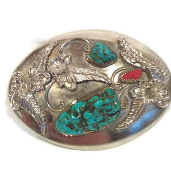 Native American Handmade Pure Silver Belt Buckle, Made on American South Western Reservation
