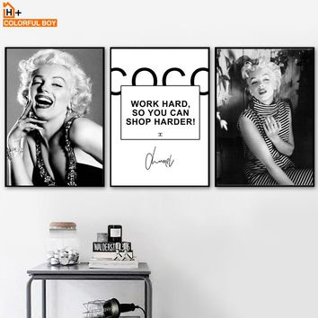 COLORFULBOY Marilyn Monroe Vintage Posters And Prints Wall Art Nordic Paintings For Living Room Wall Art Canvas Pictures Decor