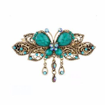 Vintage Butterfly Hair Clips Hairpins Hair Clip Beauty Tools Jewelry BU