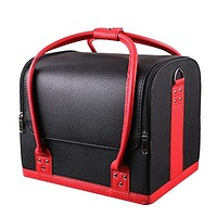 Laney Professional Makeup Cosmetics Train Case with Extendable Trays
