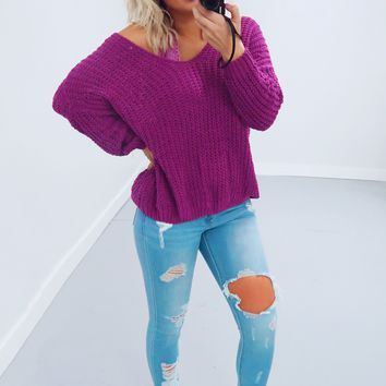 Restock: The Kelsey Sweater: Violet