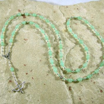 Artemis Prayer Bead Necklace in Aventurine: Greek Goddess of  the Wild, Protector of Young Women